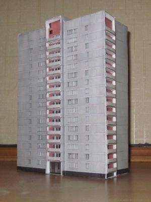 Бумажная модель панельного