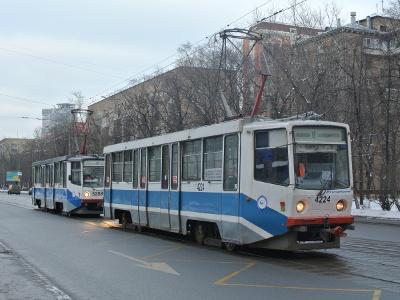 Бумажная модель трамвая